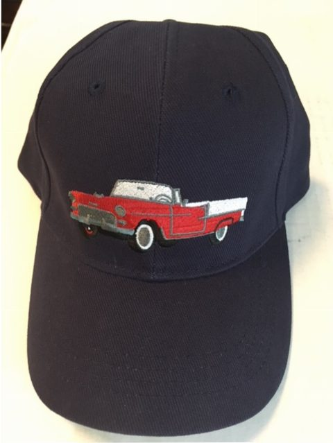 1955 Red Chevrolet Convertible Hat Retro Gear